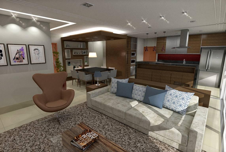 Este projeto apresenta uma das várias possibilidades de se trabalhar um apartamento.