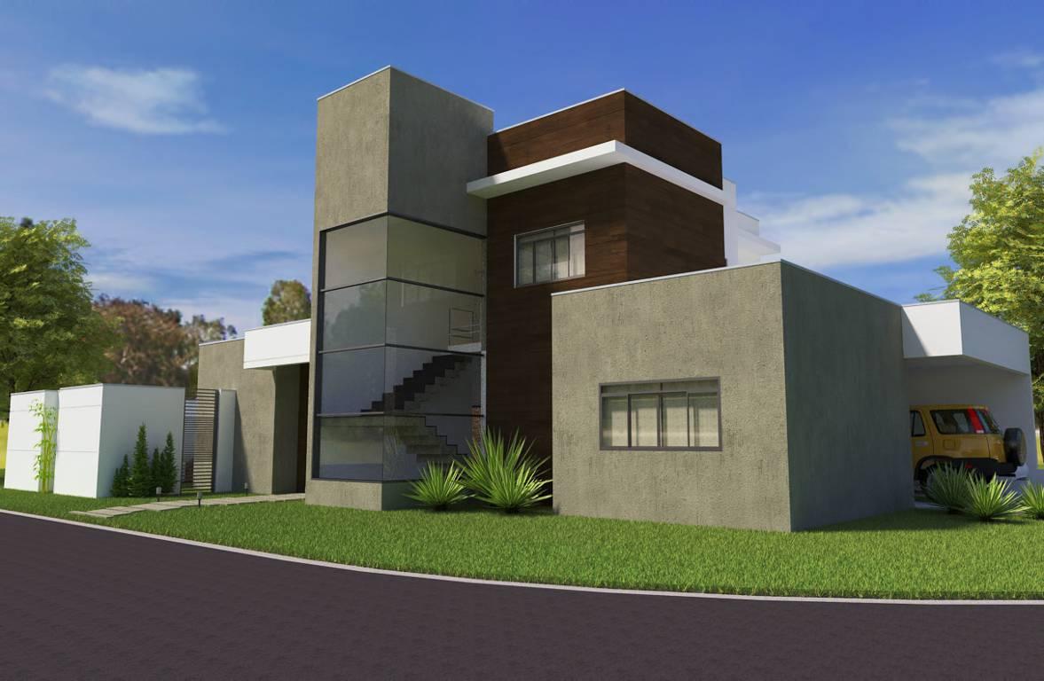 Esta casa ganha movimento a partir dos volumes criados pelos ambientes.