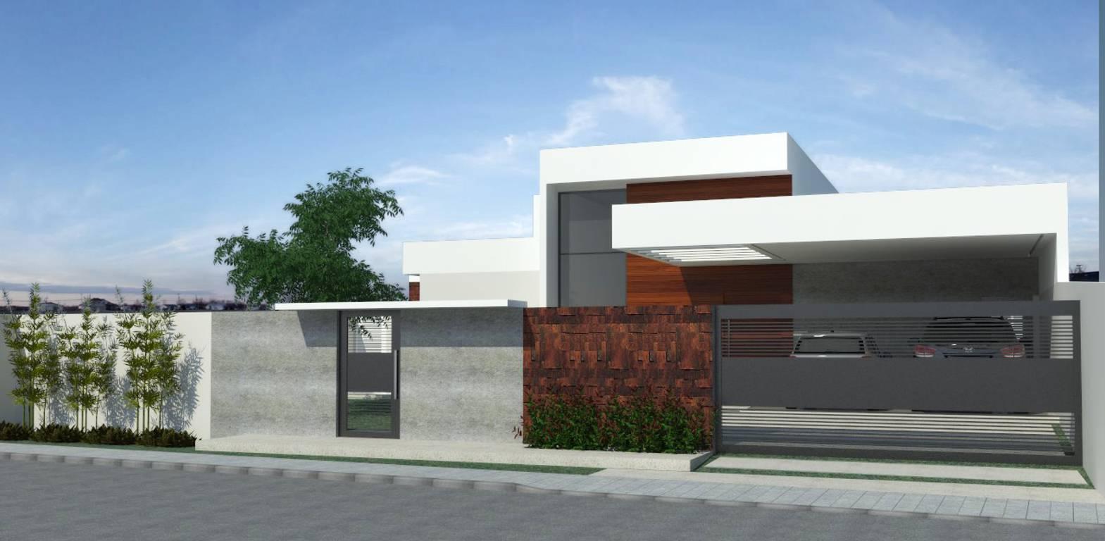 Neste projeto criamos a sensação de volume a partir da variação de planos dos telhado.