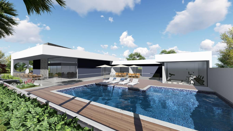 Arquitetura moderna para criar espaços de convivência no condomínio.