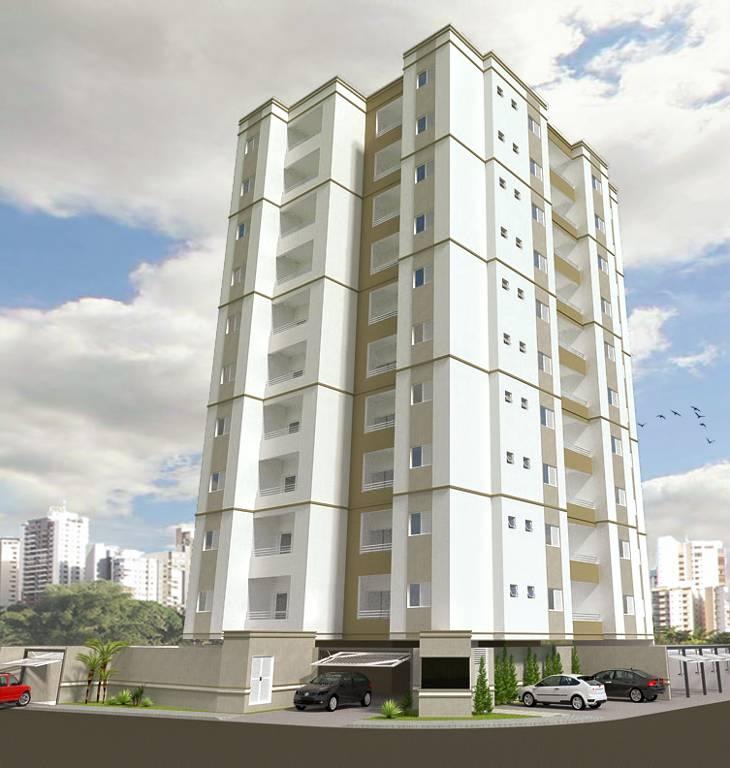 Projeto de um edifício de apartamentos práticos e funcionais.